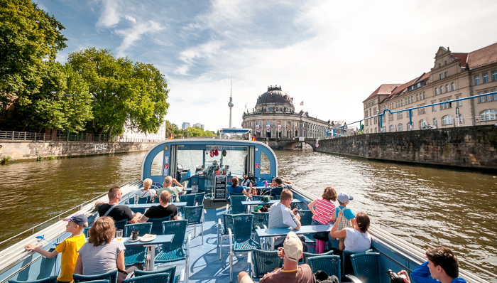 Boat tour near Museum Island