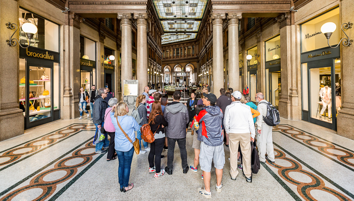 Tour group in Rome