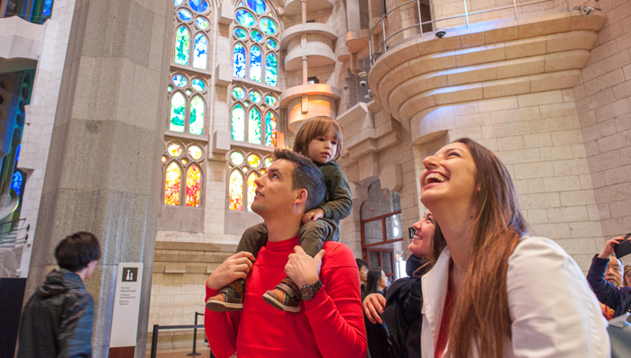 Family at the Sagrada Familia