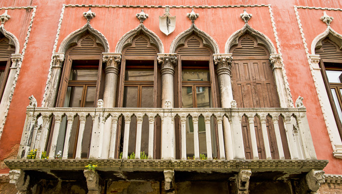 The facade of Marco Polo's house, who got famous for his adventures.