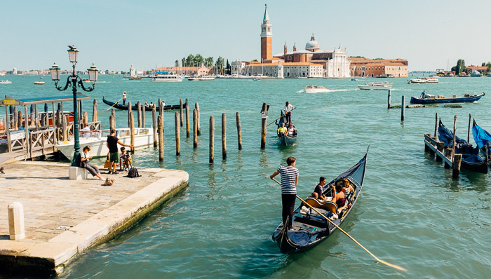Looking for transportation in Venice? Gondolas are the best way to get around.