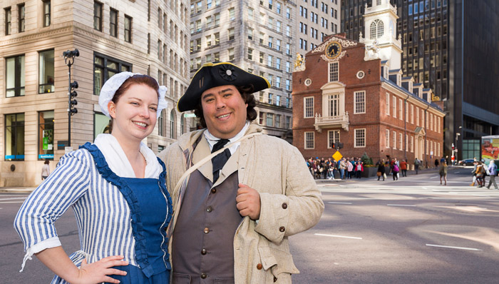 Dress up and learn about the Freedom Trail in downtown Boston.