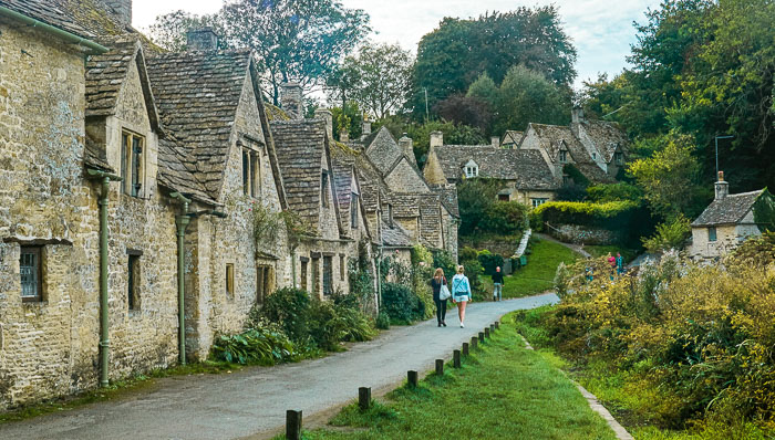 Traditional stone cottages in Cotswolds