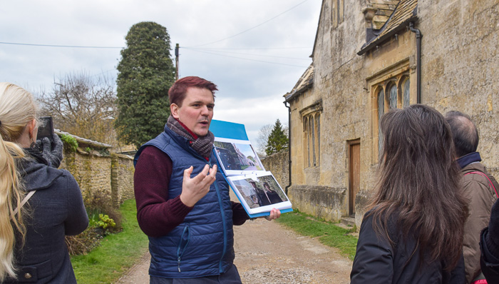Taking a walking tour in Downton Abbey