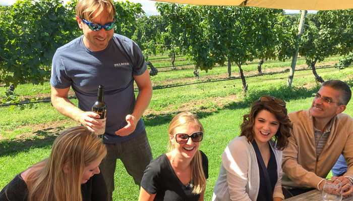 Gather a group of friends in Long Island wine country.