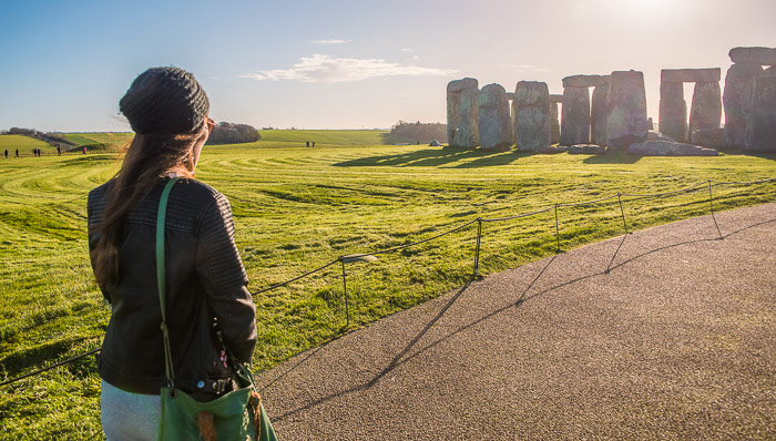 A view of Stonehenge nearing sunset
