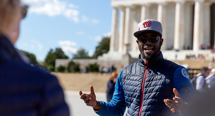 Take a guided walking tour in Washington D.C.