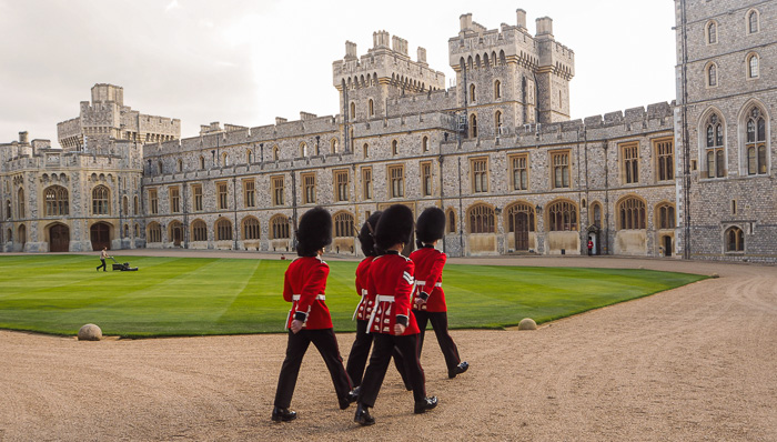 Beefeaters in front of Windsor Castle