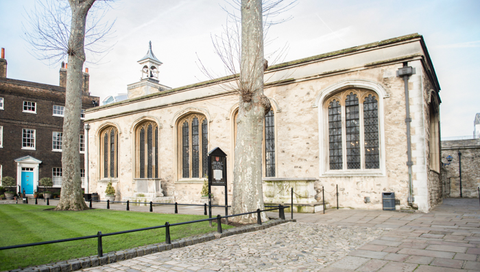 The Chapel Royal of St Peter ad Vincula looking north-west, 24 March 2015.