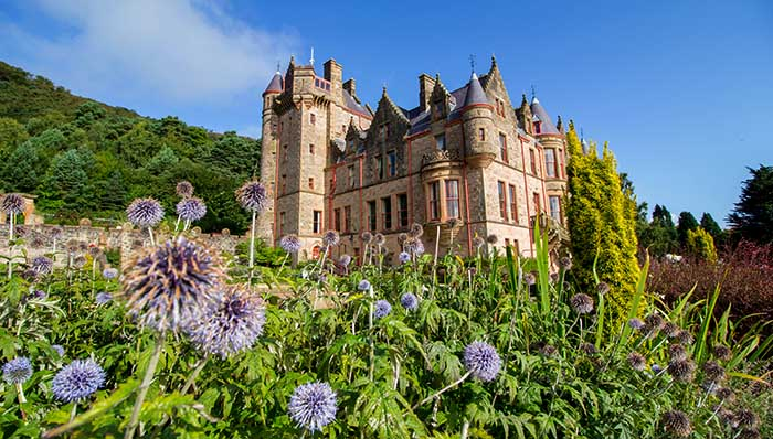 Fairytale palace in the countryside of Befast, Northern Ireland, UK.