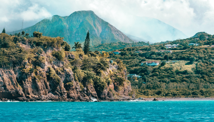 view of the caribbean island of Montserrat
