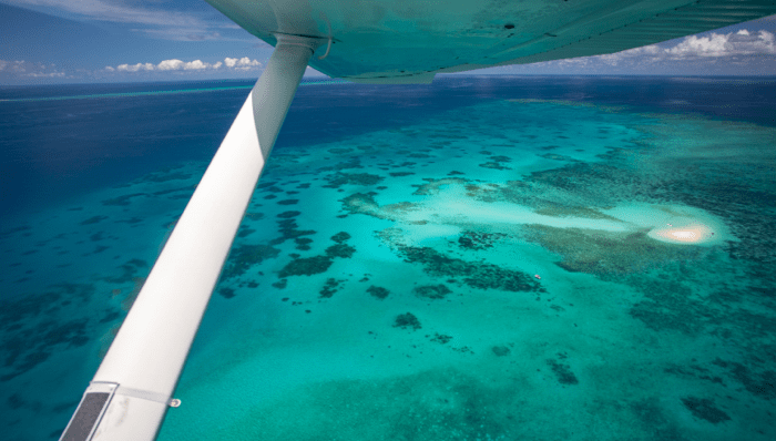 scenic flight experience of Cairns - Vlassoff Cay, Coral Reefs and pristine waters