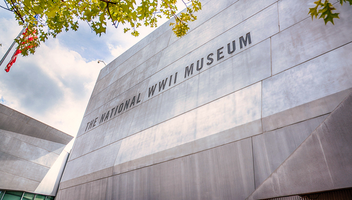 New Orleans, United States - September 28, 2018:  The exterior of the new National World War II Museum located in downtown New Orleans, Louisiana.