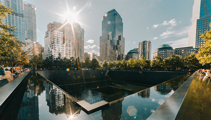 a picture of the 9/11 memorial