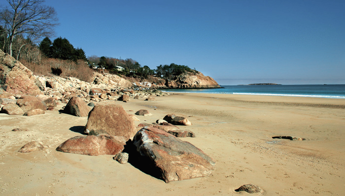 picture of rock formations on a beach