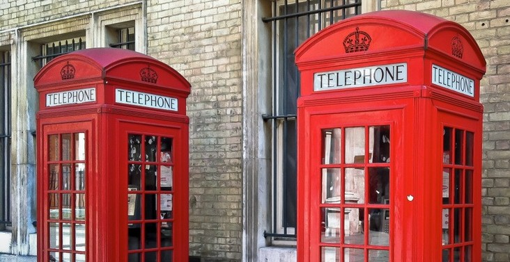 London, red telephone boxes - Pinterest user simon falvo